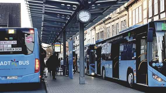 Lemgo Digital Station7 Bus im Blick