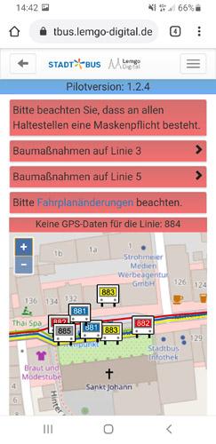 Lemgo Digital Station7 Bus im Blick App